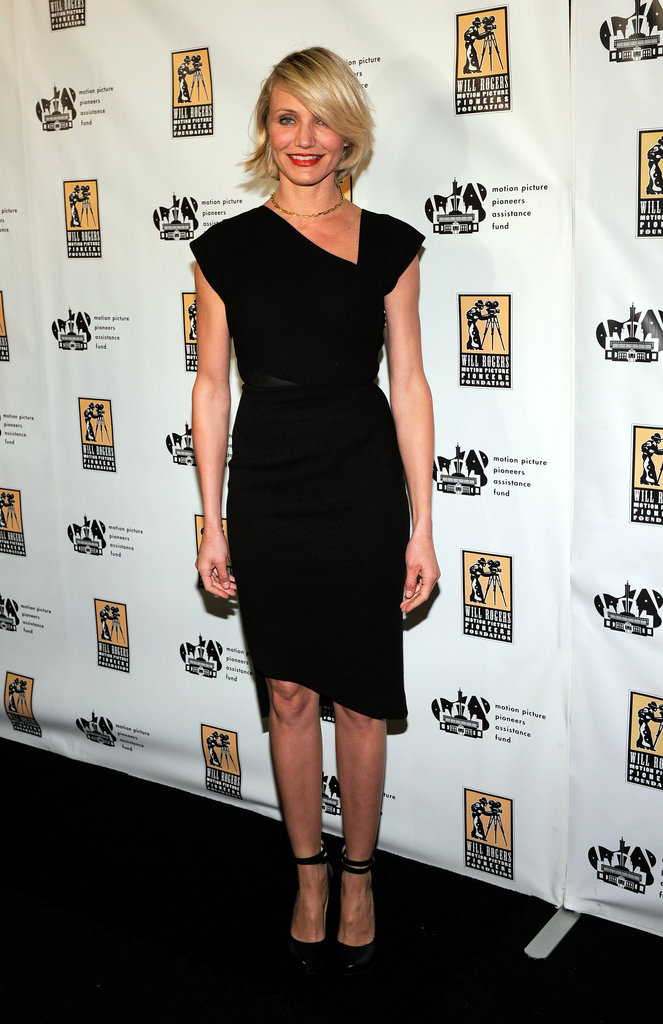Cameron Diaz sported an LBD to CinemaCon in Las Vegas.