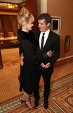 Melanie Griffith and Antonio Banderas shared a moment at CinemaCon in Las Vegas.