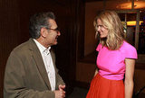 Brooklyn Decker chatted with Eugene Levy at CinemaCon in Las Vegas.