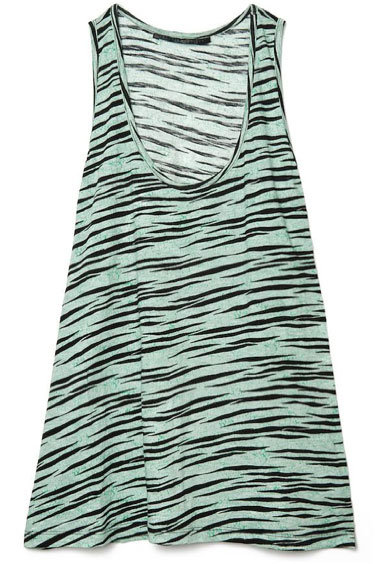 We love how wearable this tiger print feels in a totally easy tank.  Proenza Schouler Tiger Racerback Tank ($275)