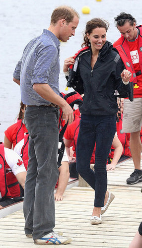 Prince William and the Duchess of Cambridge continued their travels through Canada, boarding a seaplane headed for Blackford Lake on July 5, 2011.