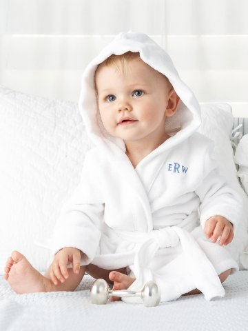 For Baby Boy: Ralph Lauren Hooded Terry Robe