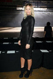 Lara Bingle wore all black to Josh Goot in 2011.