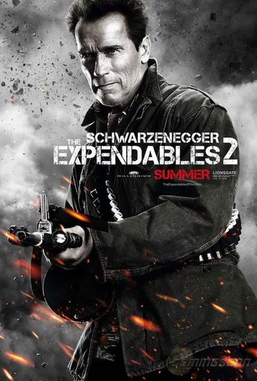 Arnold Schwarzenegger as Trench in The Expendables 2.