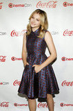 Chloe Moretz accepted the female star of tomorrow award at the CinemaCon awards ceremony in Las Vegas.