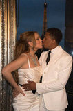 Mariah Carey and Nick Cannon shared a kiss.