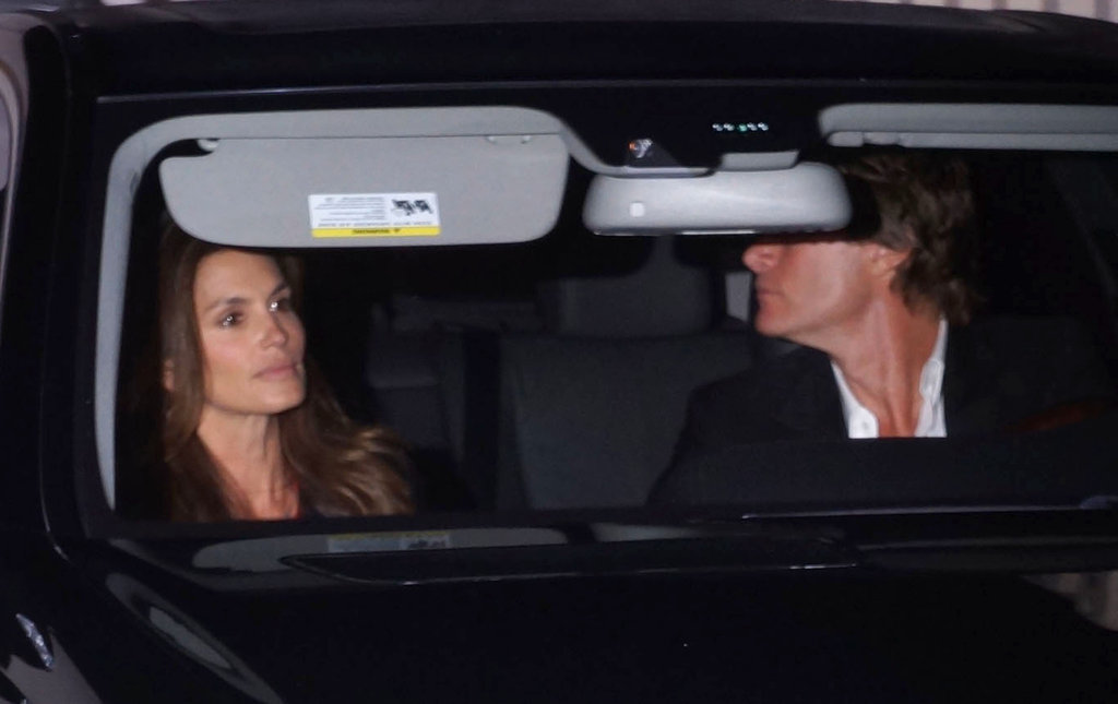 Cindy Crawford and Rande Gerber left a dinner date with George Clooney and Stacy Keibler in LA.