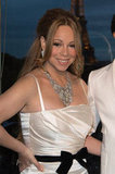 Mariah Carey wore a black sash around her wedding dress.