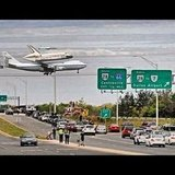 The space shuttle Enterprise begins its final voyage.  Source: Instagram User cokeyourbone