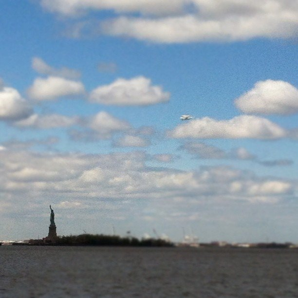 The Statue of Liberty and the space shuttle.  Source: Instagram User gurby12