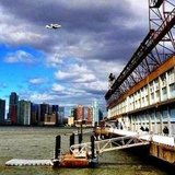 Space shuttle Enterprise over New York City.  Source: Instagram User yumidelicious