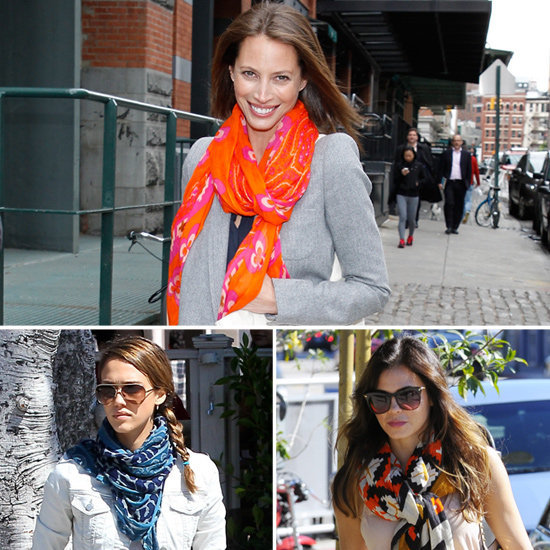 See why celebs are obsessing over Theodora & Callum's scarves.