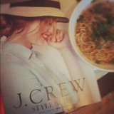 Sometimes it's the little things: taking some time out with our J.Crew Style Guide and a little ramen.