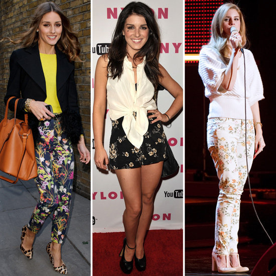 Get celeb inspired to work floral bottoms day to night.