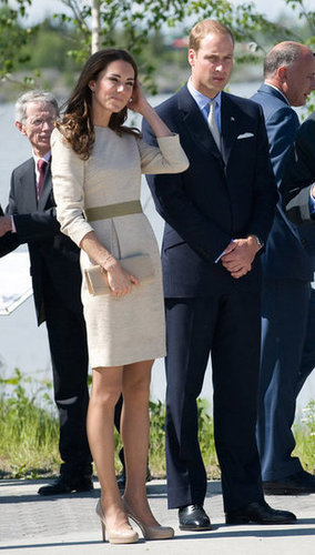 For a trip to Yellowknife's Somba K'e Civic Plaza, Kate donned a silk linen By Malene Birger dress in July 2011.
