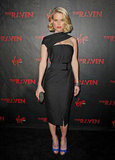 Alice Eve caught our eye in a jaw-dropping Donna Karan cocktail sheath at the premiere of The Raven in LA.