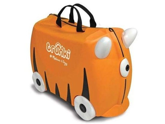 Full of child-friendly features, the classic Sunny Rolling Luggage ($32) from Trunki is both playful and sensible for Summer travel.