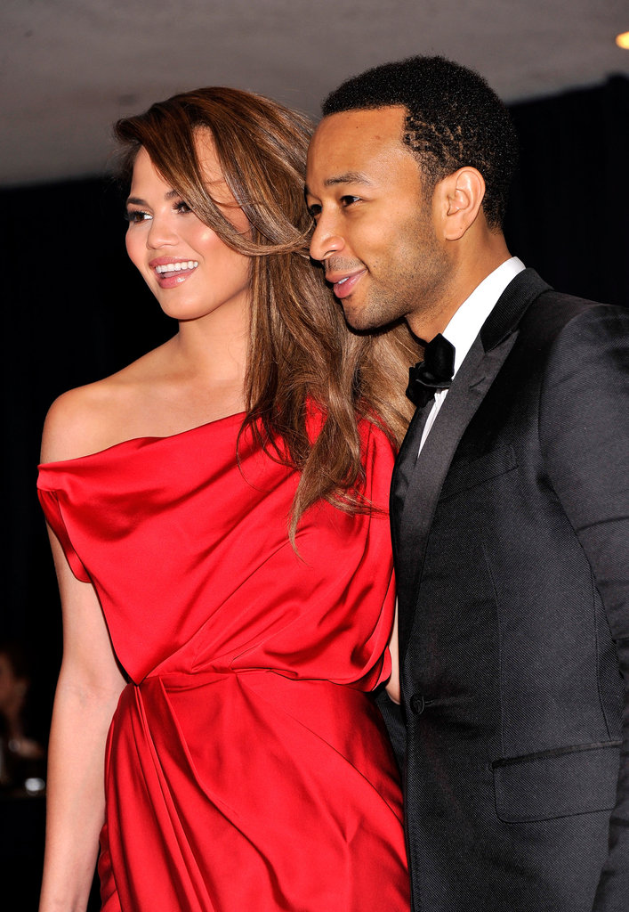 John Legend arrived at the White House Correspondant's Dinner.