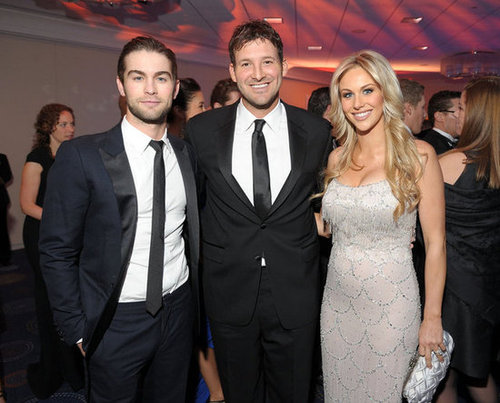Chace Crawford, Tony Romo and Candice Crawford posed together for a photo.