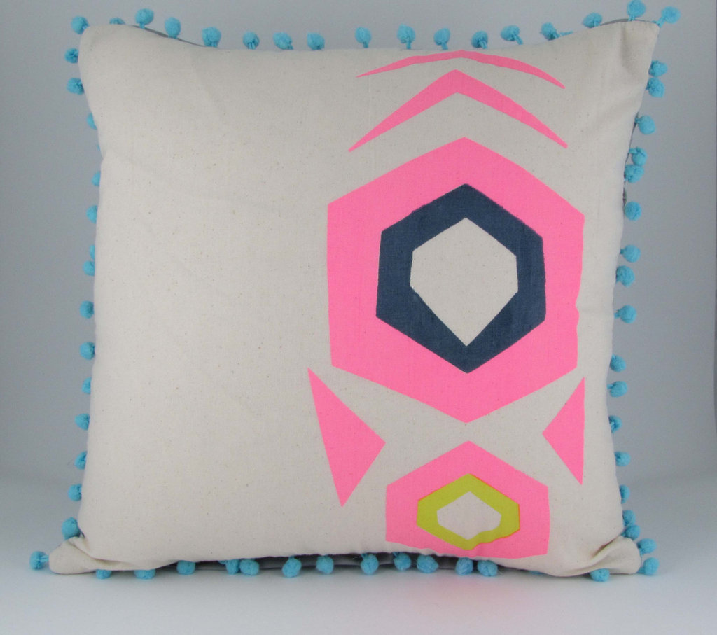 The Geometric print Mex Tex Cushion ($86) was inspired by Mexican textiles.