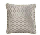 An all-over pattern on the Needlepoint Geometric Squares Pillow ($190) makes it a great addition to a neutral sofa.