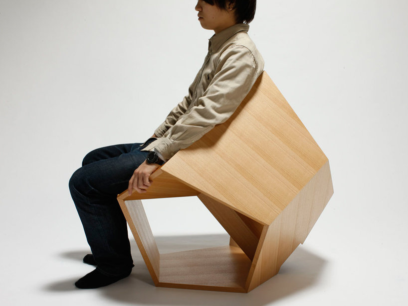 The Dodecahedronic Chair by Hiroaki Suzuki is the result of the designer's functional applications for polyhedral geometry in product design.