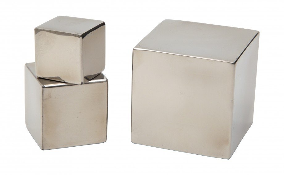 These charming little Stainless Cubes ($8) are only inches tall, and would be perfect for a home office desk.