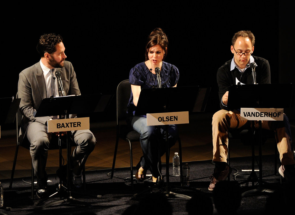 Paul Rudd, Cara Buono and David Wain joined up for a live reading of  The Apartment in NYC.