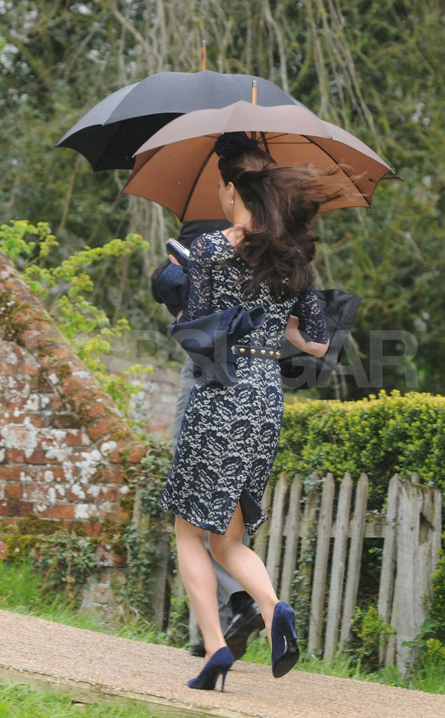 Kate Middleton dashed from a friend's wedding.