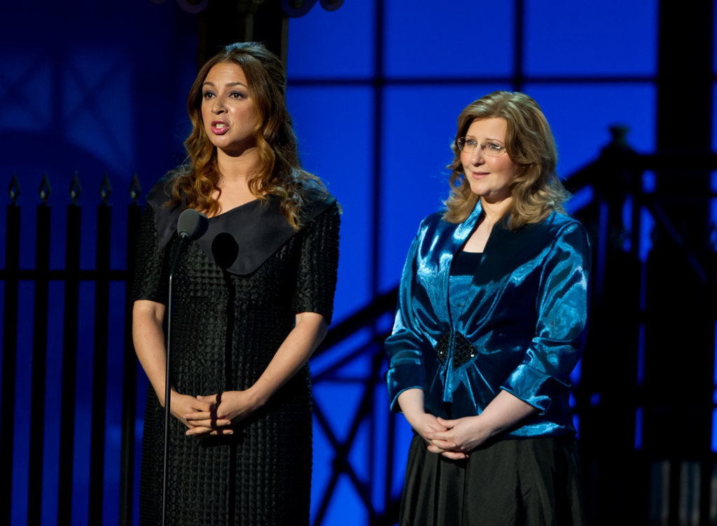 Maya Rudolph spoke on stag at the Comedy Awards in NYC.