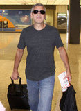 George Clooney caught a flight.
