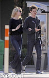 Emma Stone and Andrew Garfield chatted while taking a stroll in the West Village in NYC.