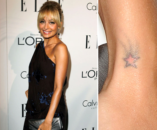 Nicole Richie has a tiny shooting star tattooed on the outside of her left wrist.