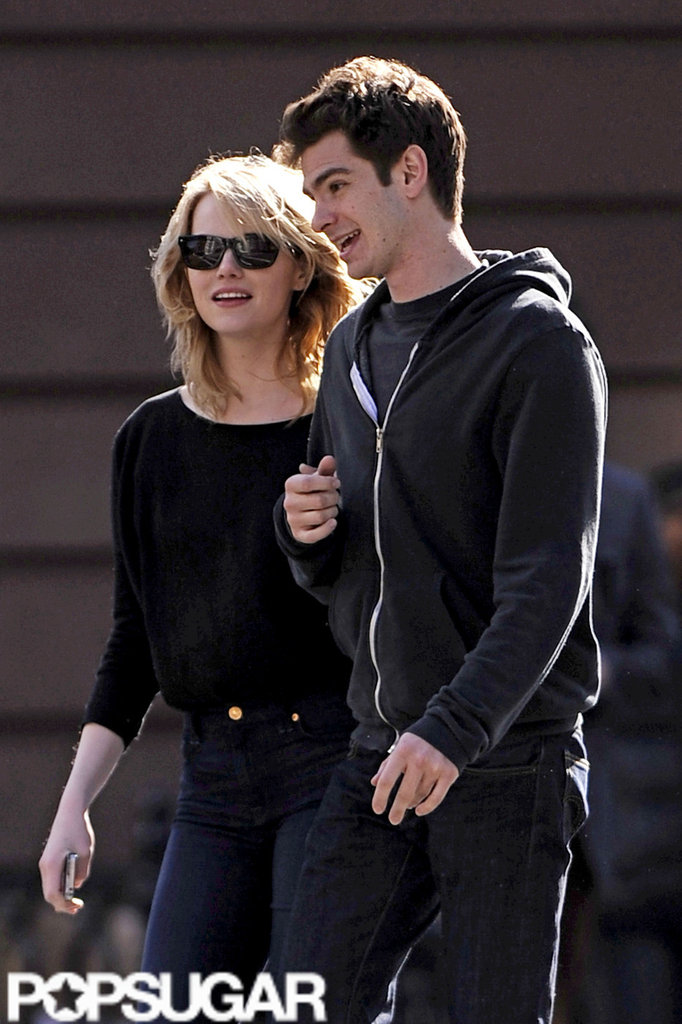 Emma Stone and Andrew Garfield took a romantic stroll around the West Village in NYC.