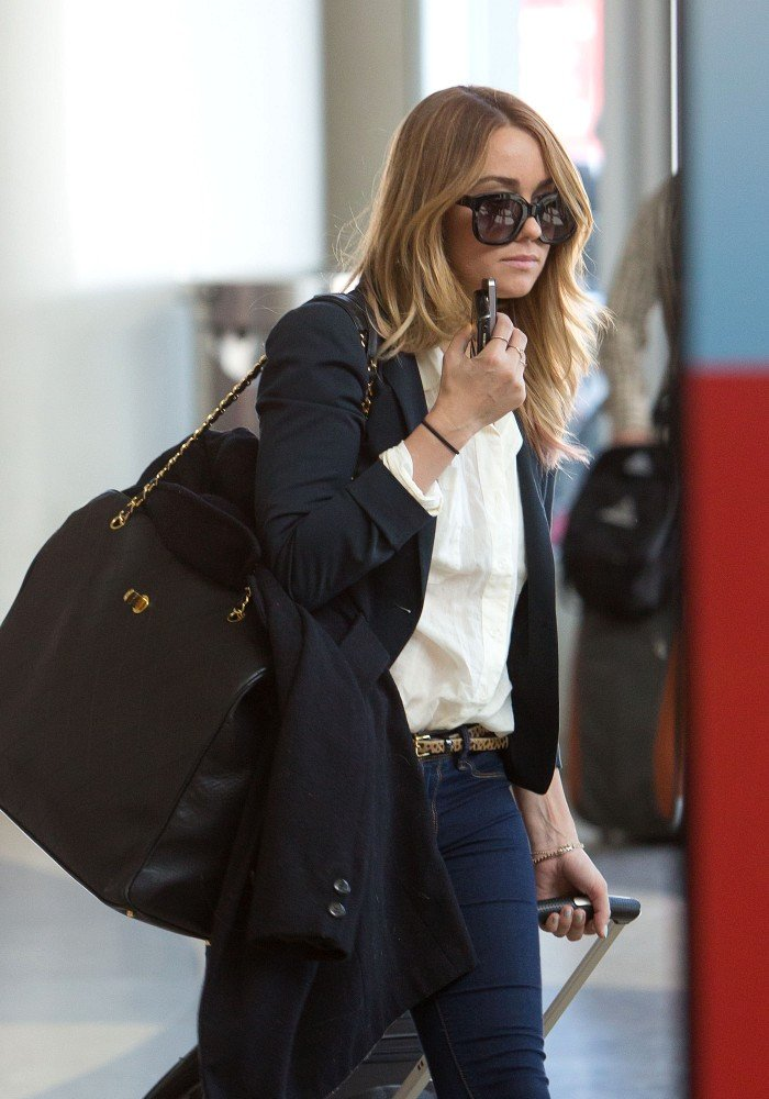 Lauren Conrad returned to her blond hair.