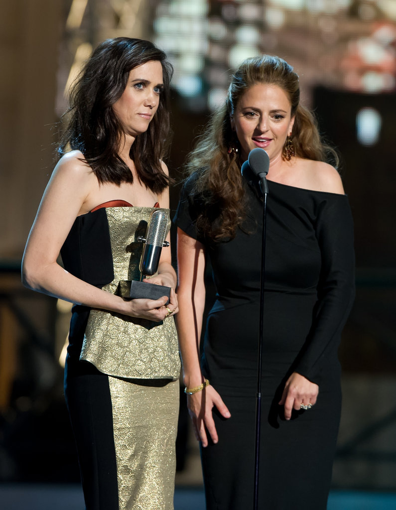 Kristen Wiig and Annie Mumolo shared the stage at the Comedy Awards in NYC.