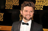 Adam Scott wore a bow tie for the Comedy Awards in NYC.