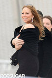 Mariah Carey made her way to the plane at the airport in Paris.