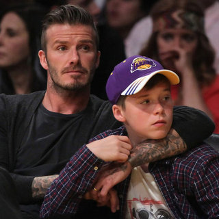 David Beckham Pictures at LA Galaxy Game