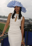 Zoe Saldana got close to the track in 2007.