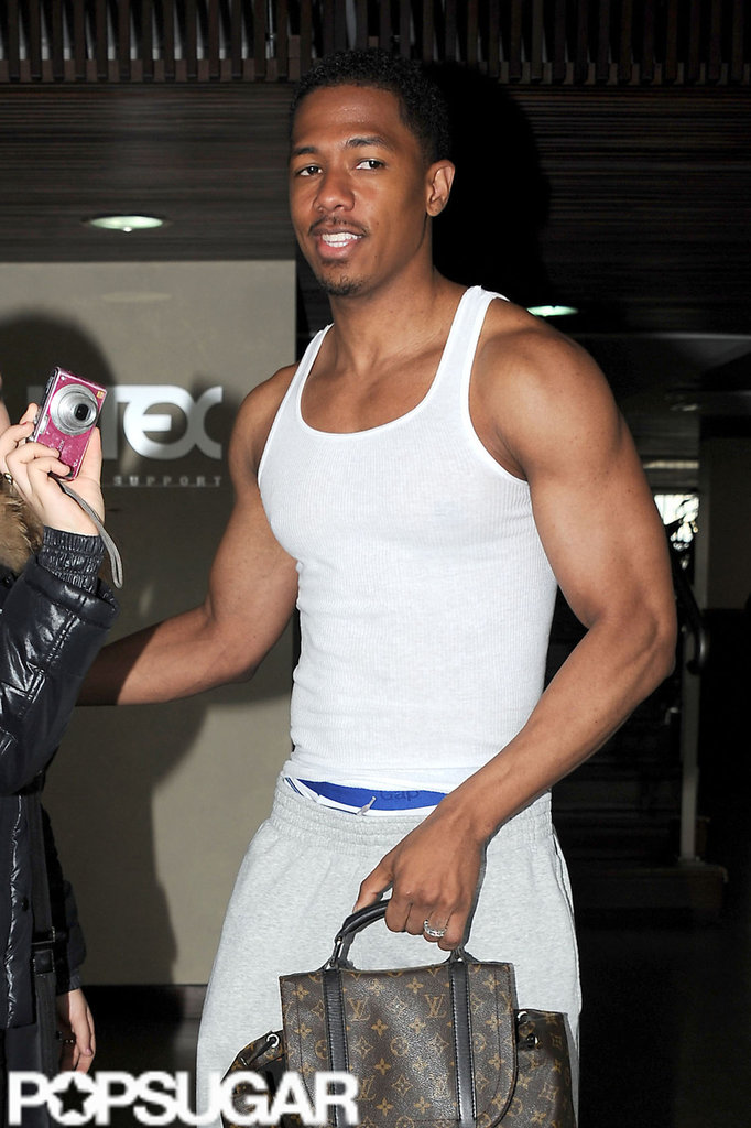 Nick Cannon looked casual while traveling home from Paris.