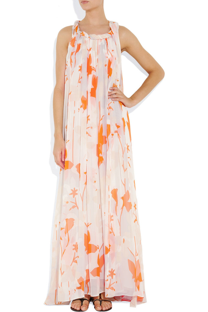 """I have five weddings to go to this Summer, and while I'll probably invest in more than one dress, I think this version could easily make a repeat appearance. Once belted, once free and flowy — it has the perfect beach vibe to it."" — Marisa Tom, associate editor  Diane von Furstenberg Mirina Printed Silk-Chiffon Gown ($600)"
