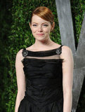 Emma Stone adorned her Chanel dress with two silver brooches, pinned on each side of her shoulder straps. Inspired? Shop our pretty brooch picks in the widget below.