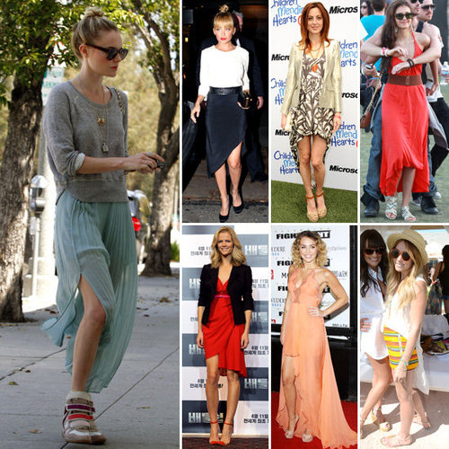 Celebrities Wearing Asymmetrical Skirts Spring 2012