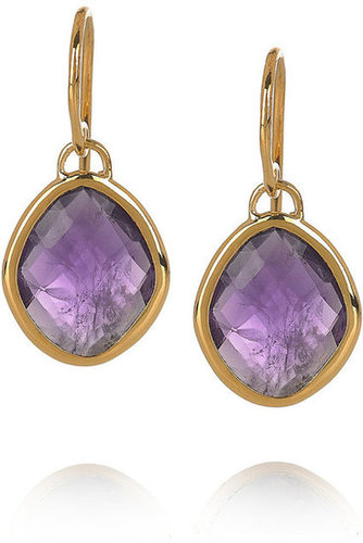 Monica Vinader | Nugget 18-karat gold-vermeil amethyst earrings | NET-A-PORTER.COM