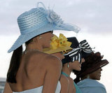 Women showed off Derby hats in 2006.