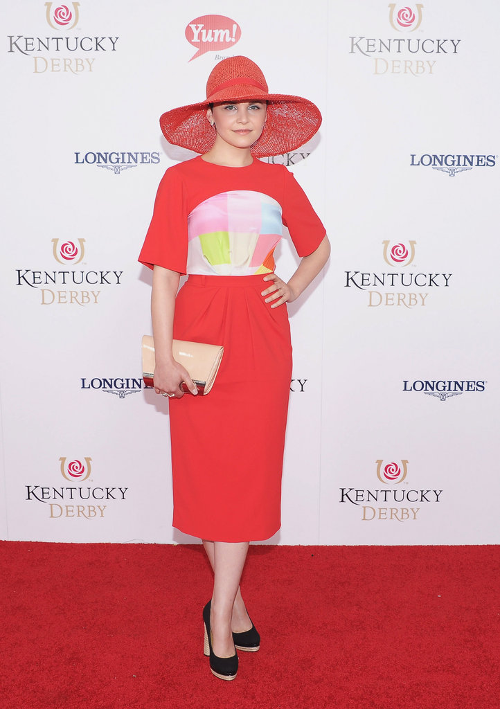 Ginnifer Goodwin posed before watching the Kentucky Derby.