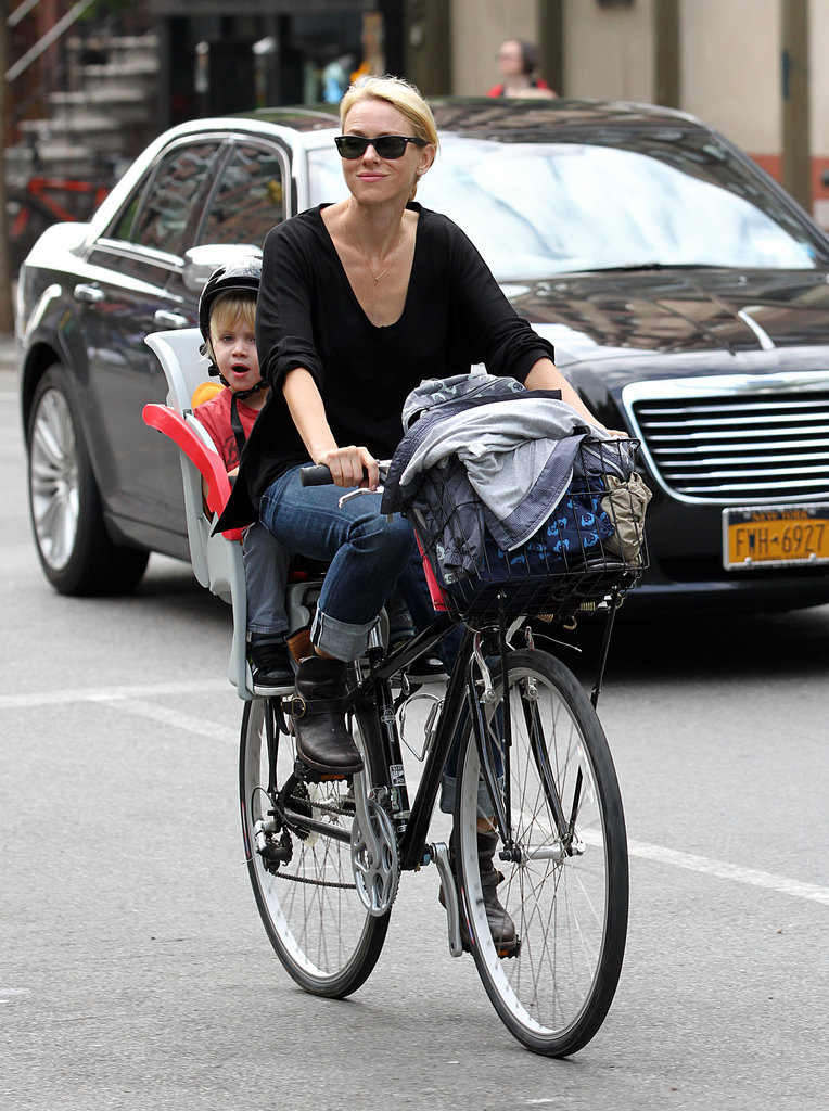 Naomi rode a bike through NYC with Sammy.