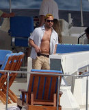 Jeremy Piven showed skin on a boat in January 2009.