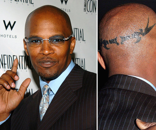 It is reported that Jamie Foxx got the design on his head to celebrate his 40th birthday.